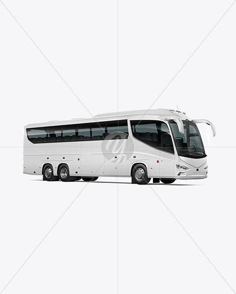 Bus Mockup - Half Side View - Yellowimages Mockups