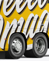 Bus Mockup - Back Half Side View