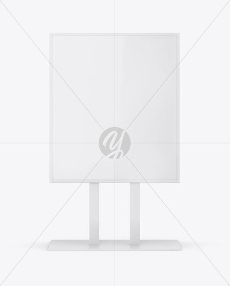 Glossy Display Stand Mockup