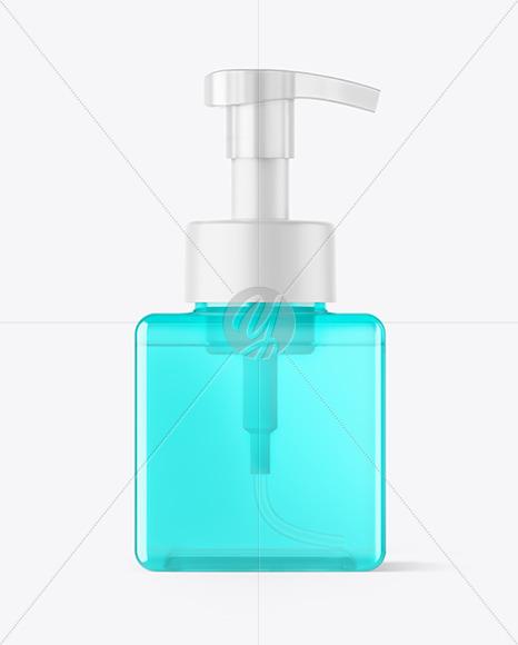 Color Bottle with Pump Mockup