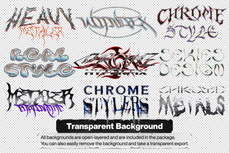 Chrome Text Styles Vol.3