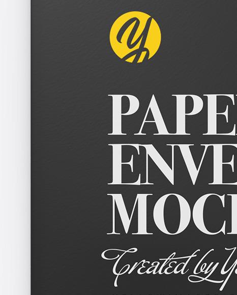 Paper Envelope With String Mockup