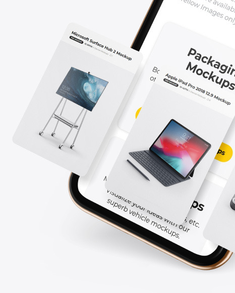 Apple iPhone 11 Pro w/ Cards Mockup