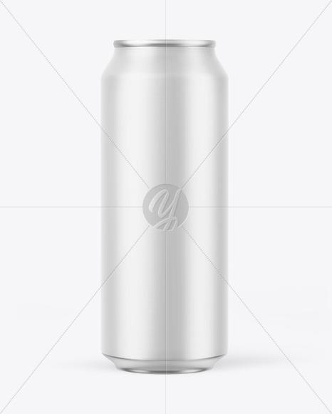 Matte Drink Can Mockup