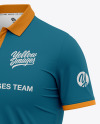 Men's Short Sleeve Polo Shirt - Front Half Side View