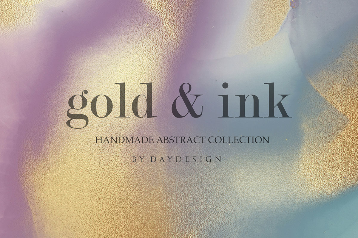 Alcohol Ink Gold Handmade Collection