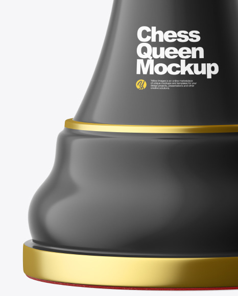 Chess Queen Piece Mockup