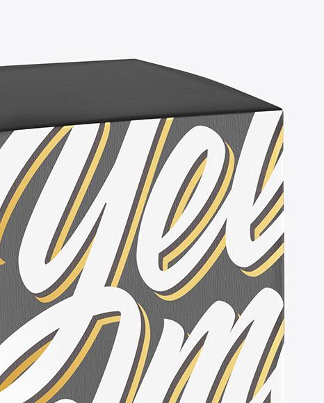 Dark Amber Glass Bottle w/ Box Mockup