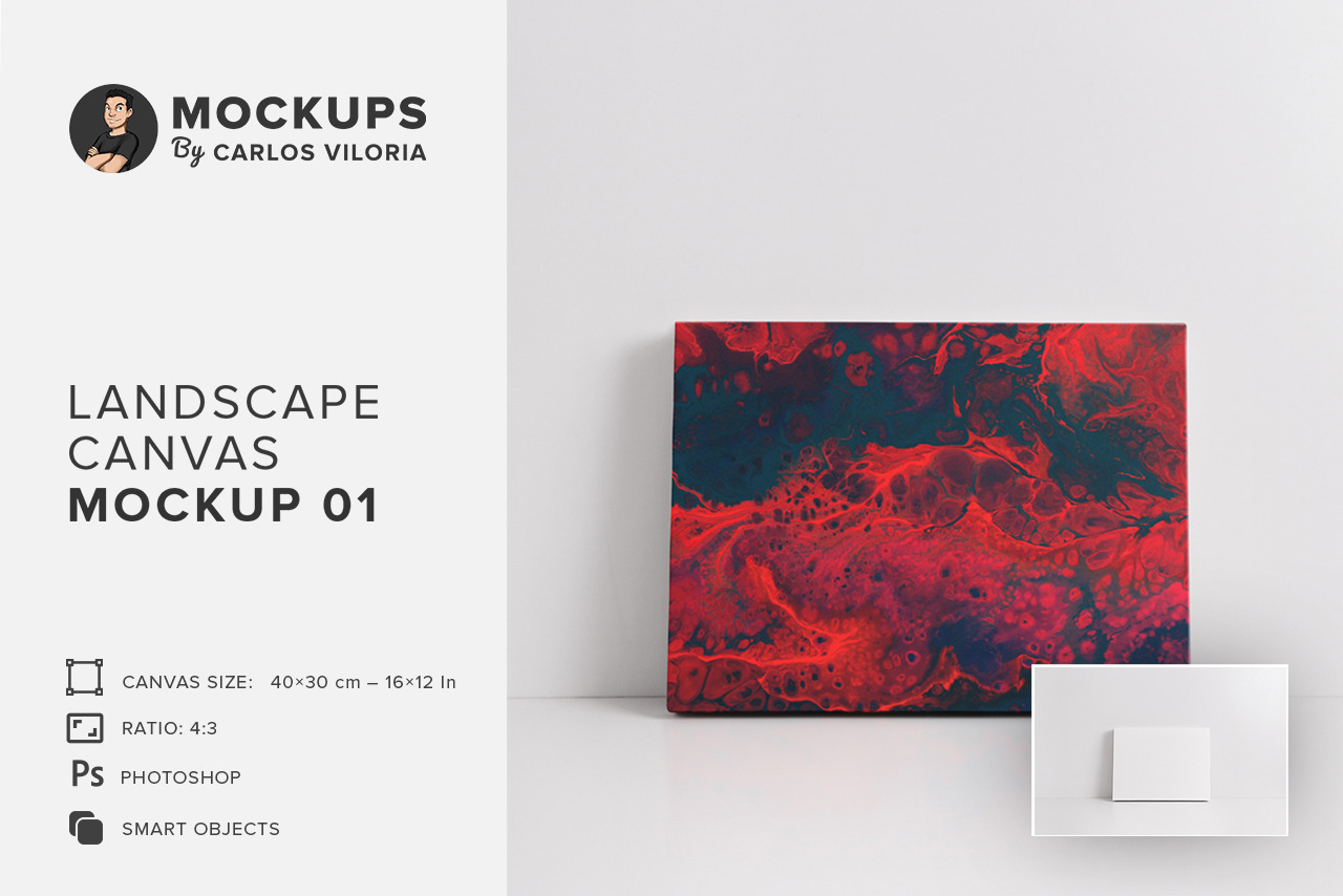Landscape Canvas Ratio 4x3 Mockup 01