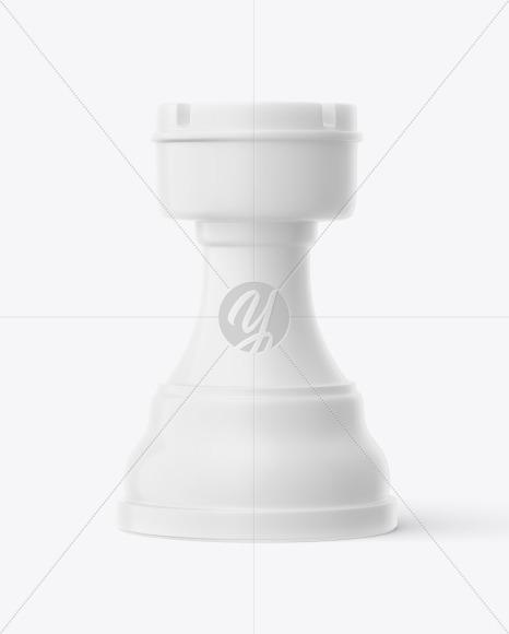 Chess Rook Piece Mockup