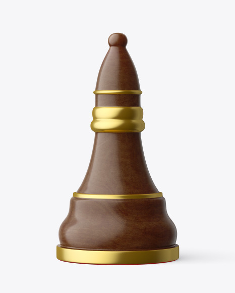 Chess Bishop Piece Mockup