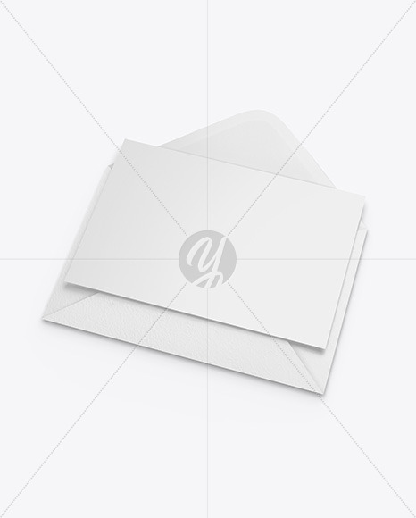 Textured Envelope w/ Postcard Mockup