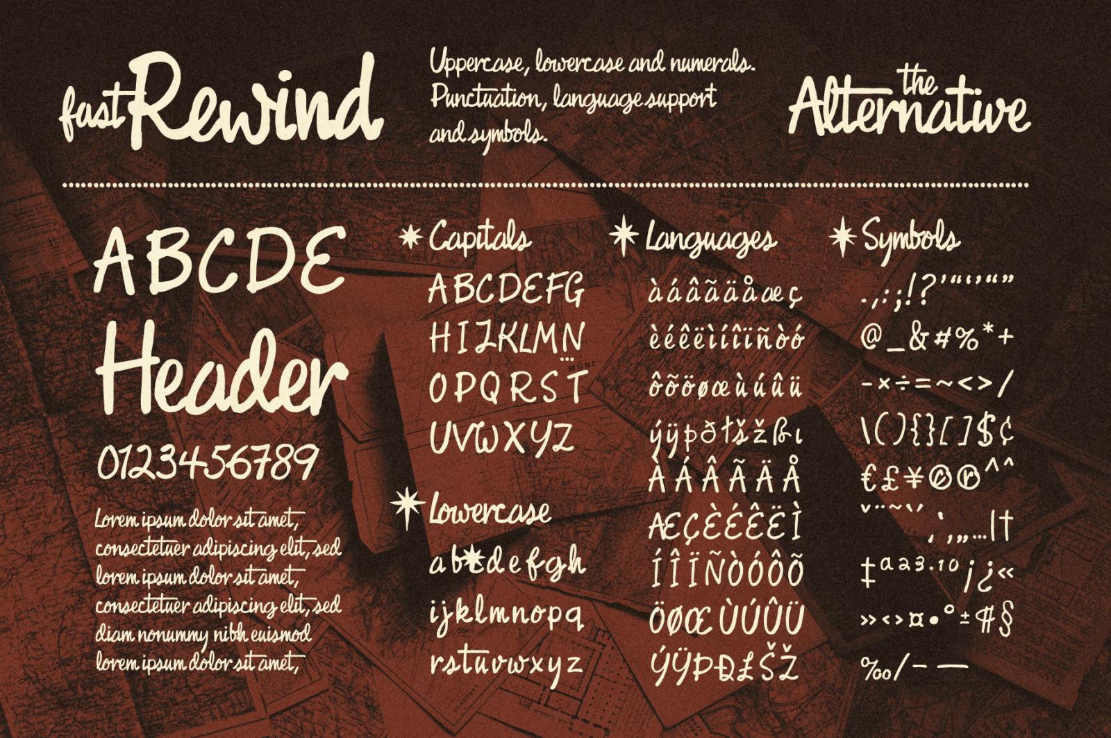 Fast Rewind: Retro Brush Script Font