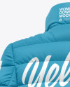 Matte Nylon Women's Down Jacket Mockup