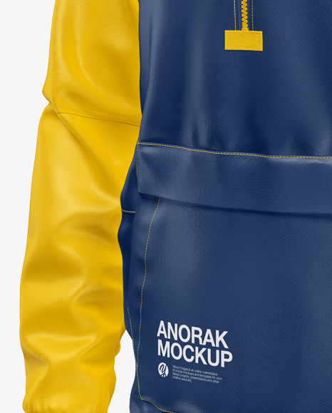 Anorak Mockup - Front Half Side View