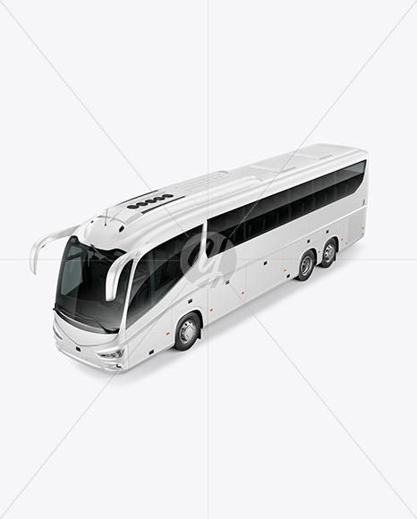 Bus Mockup - Half Side View (High-Angle Shot) - Yellowimages Mockups