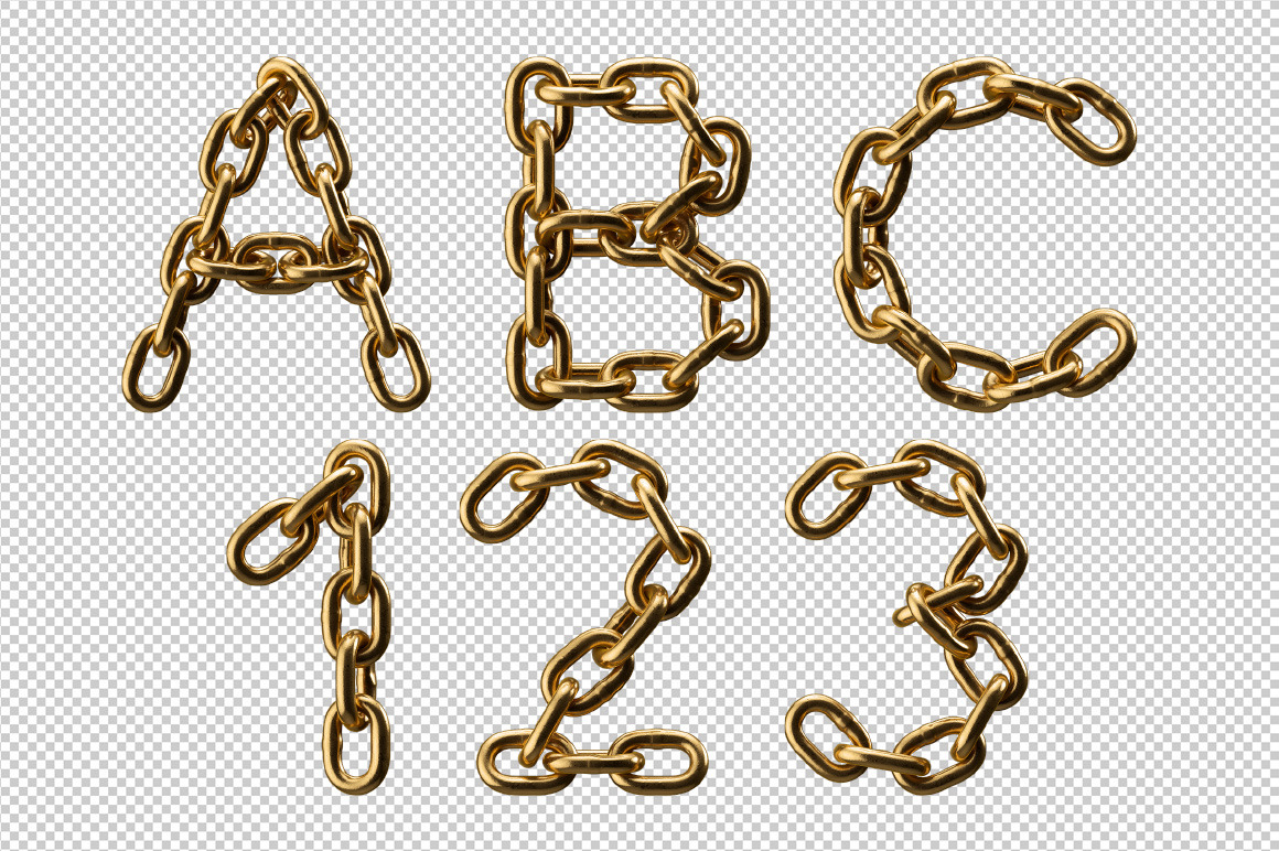 Golden Chain Font