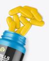 Matte Bottle w/ Pills Mockup