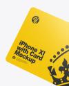 Apple iPhone 11 Pro w/ Credit Card Mockup