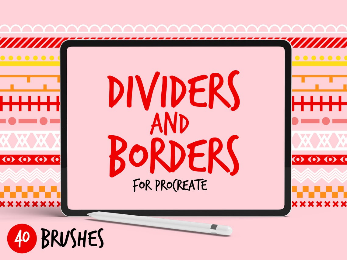 Procreate Brushes Dividers and Borders