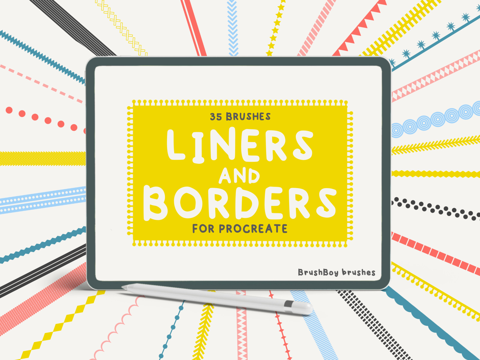 Liners and Borders Procreate Brushes