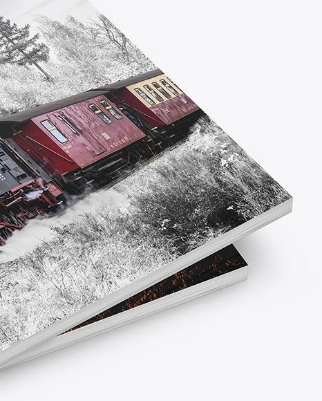 Two Matte A4 Magazines Mockup