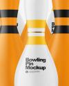 Matte Bowling Pins Mockup