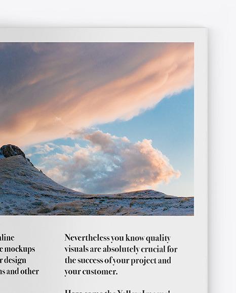 Matte Magazine Mockup