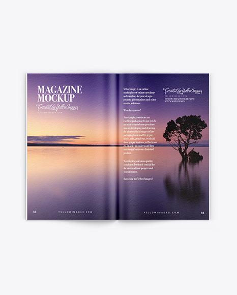Textured Magazine Mockup