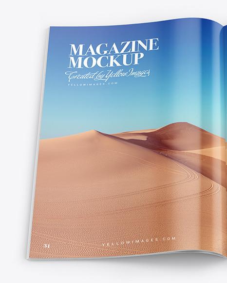 Glossy Magazine Mockup