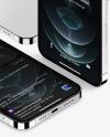 iPhones 12 Pro Max Silver Mockup Scene