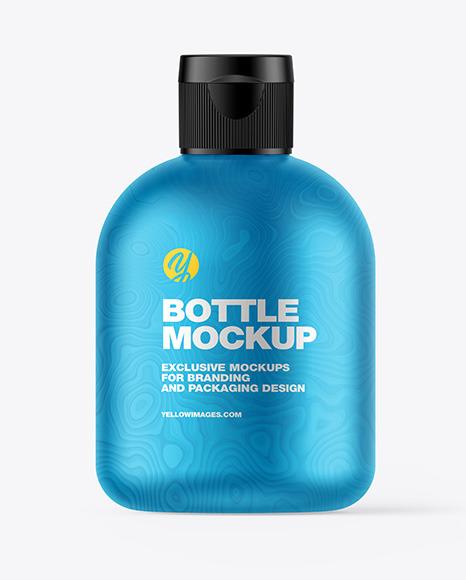 Matte Metallic Bottle Mockup