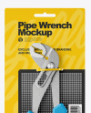 Pipe Wrench Mockup - Front View