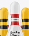 Glossy Bowling Pins Mockup