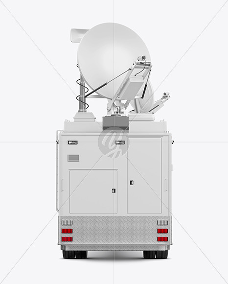TV Truck Mockup - Back View - Yellowimages Mockups