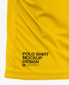 Men's Short Sleeve Polo Shirt - Back Half Side View