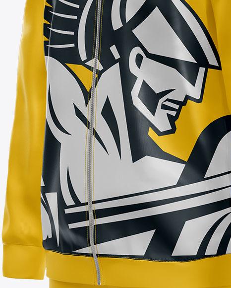 Men's Sport Suit Mockup – Half Side View