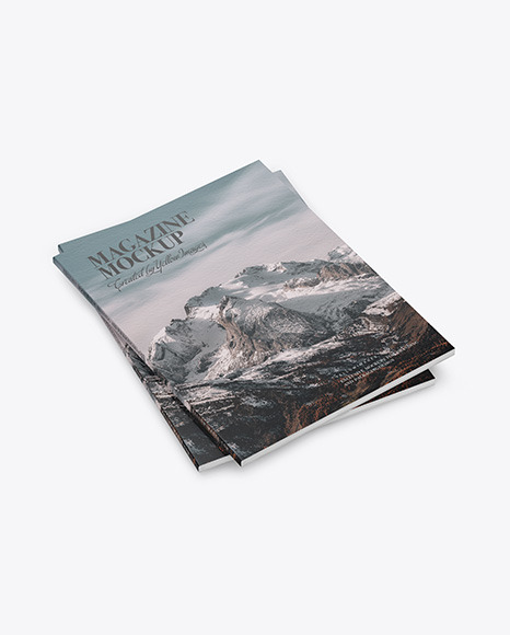 Two Paper A4 Magazines Mockup