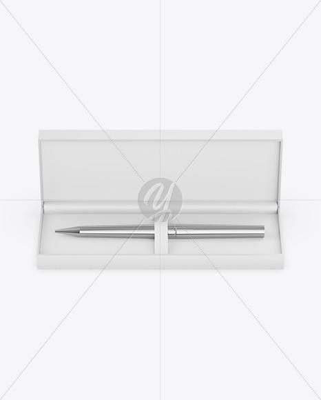 Gift Writing Pen in Box Mockup