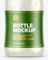 Sour Cream Sauce w/ Garlic Bottle Mockup