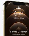 Apple iPhone 12 Pro Max Gold Mockup