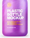 Matte Plastic Bottle w/ Pump Mockup