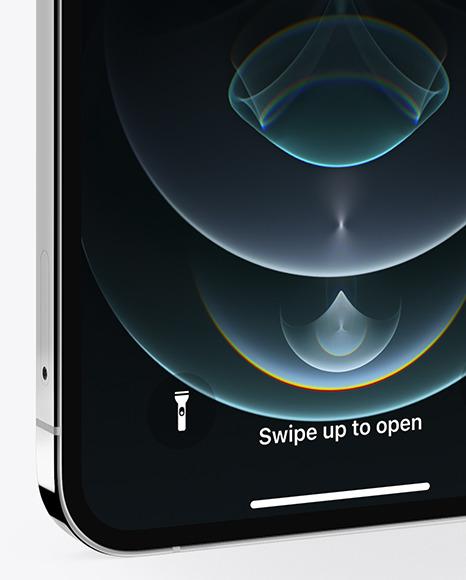Apple iPhone 12 Pro Max Silver Mockup
