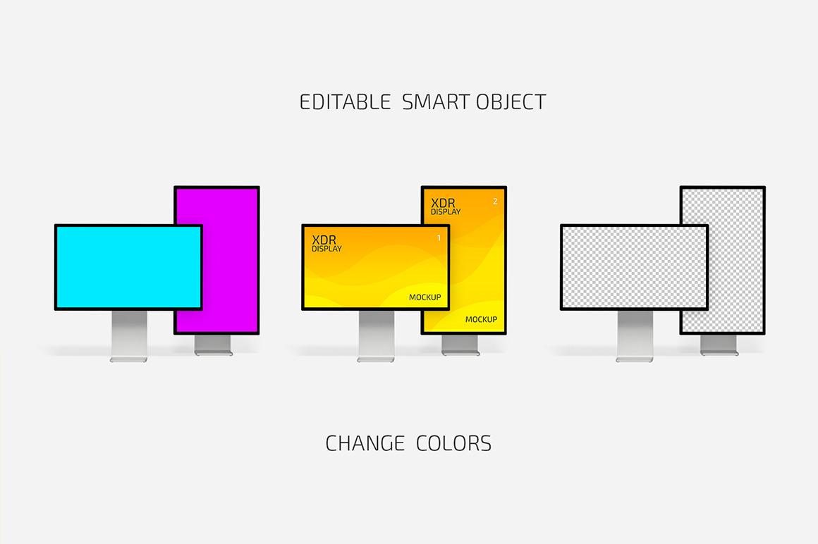 XDR Display Mockup Set