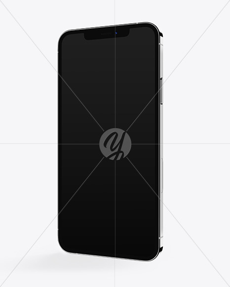 Apple iPhone 12 Pro Max Silver Mockup