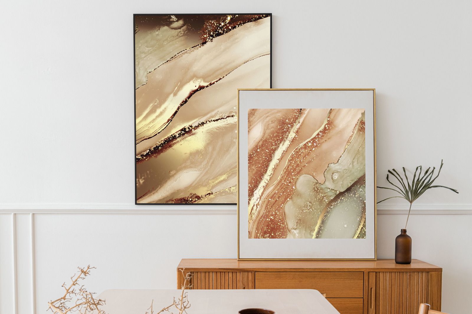 Alcohol Ink & Gold Backgrounds