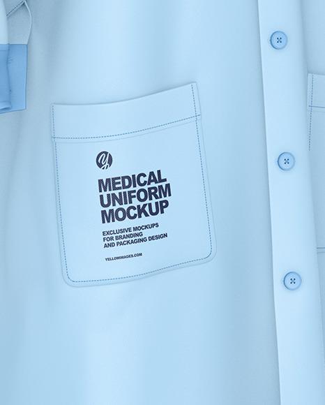 Medical Uniform Mockup – Half Side View