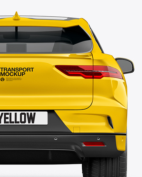 Electric Crossover SUV Mockup - Back View
