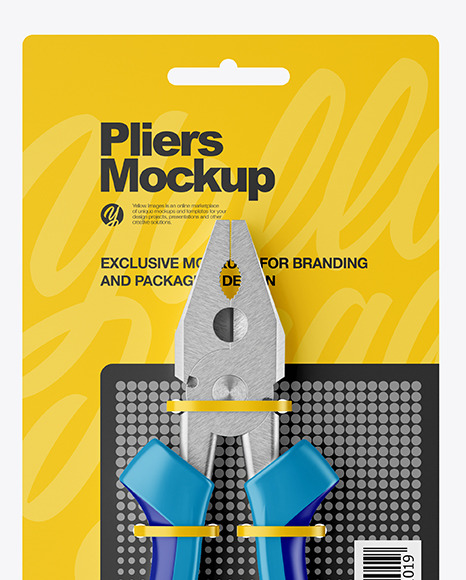 Pliers Mockup - Front View