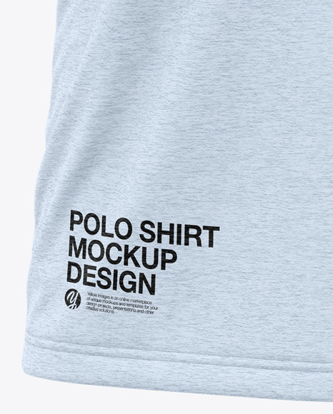 Men's Heather Short Sleeve Polo Shirt - Front View
